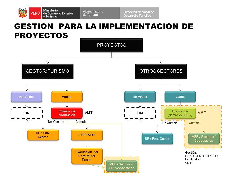 GESTION PARA LA IMPLEMENTACION DE PROYECTOS