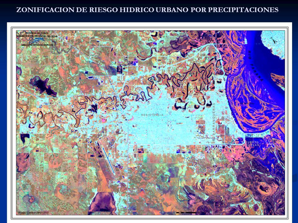 ZONIFICACION DE RIESGO HIDRICO URBANO POR PRECIPITACIONES