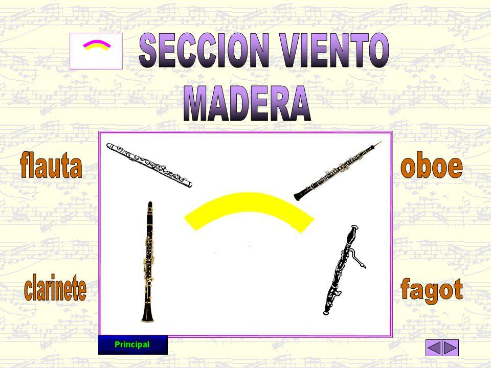 SECCION VIENTO MADERA flauta oboe clarinete fagot