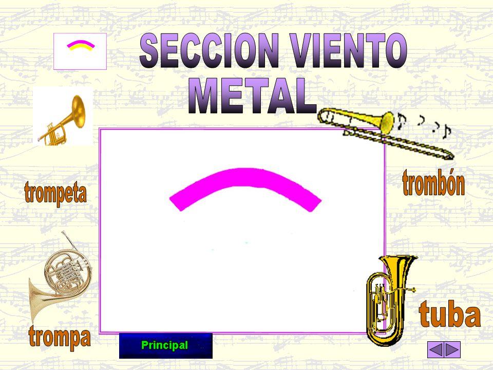 SECCION VIENTO METAL trombón trompeta tuba trompa