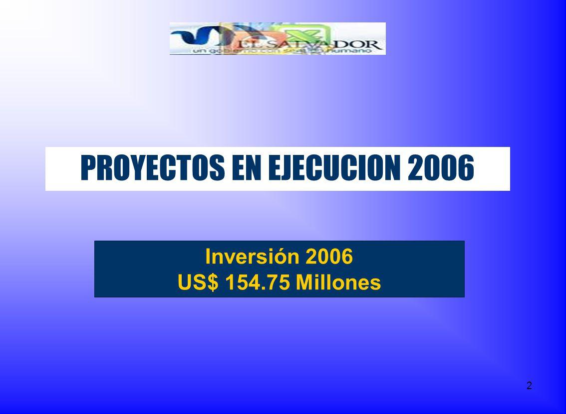 PROYECTOS EN EJECUCION 2006
