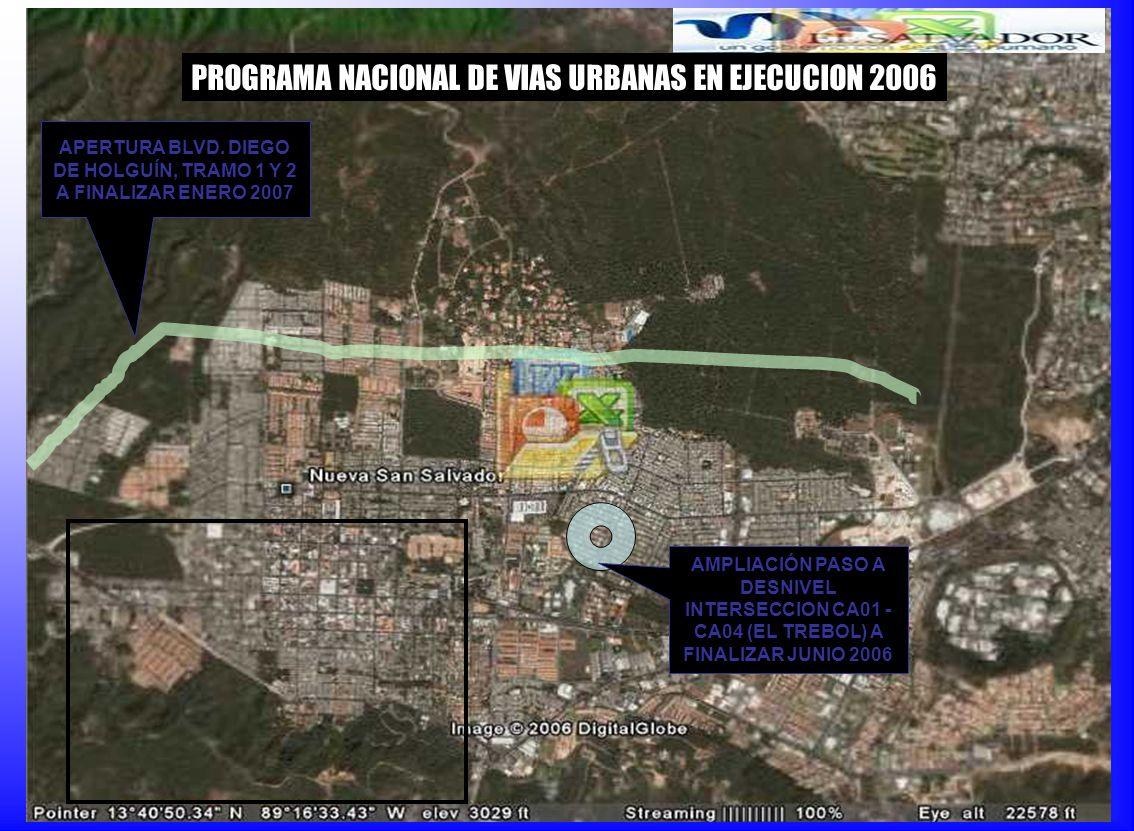 APERTURA BLVD. DIEGO DE HOLGUÍN, TRAMO 1 Y 2 A FINALIZAR ENERO 2007