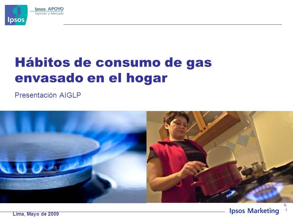 Hábitos de consumo de gas envasado en el hogar