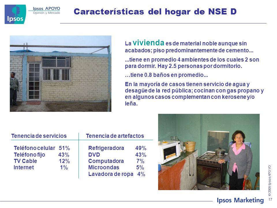 Características del hogar de NSE D