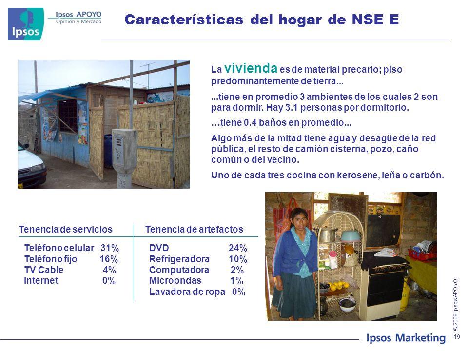 Características del hogar de NSE E
