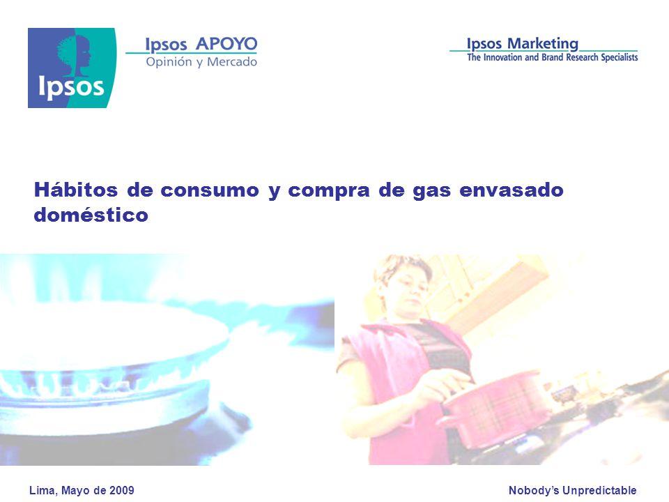 Hábitos de consumo y compra de gas envasado doméstico
