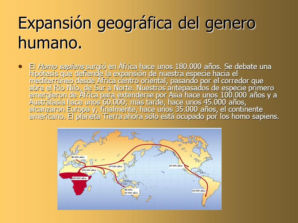 Expansión geográfica del genero humano.