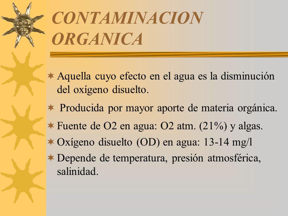 CONTAMINACION ORGANICA