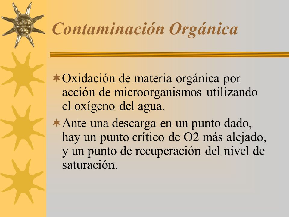 Contaminación Orgánica