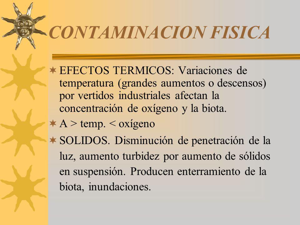 CONTAMINACION FISICA