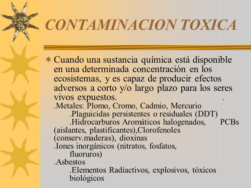 CONTAMINACION TOXICA
