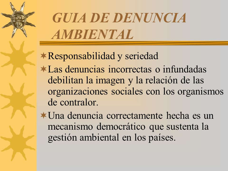 GUIA DE DENUNCIA AMBIENTAL