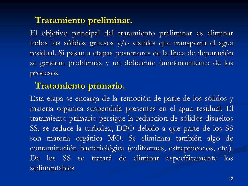 Tratamiento preliminar.