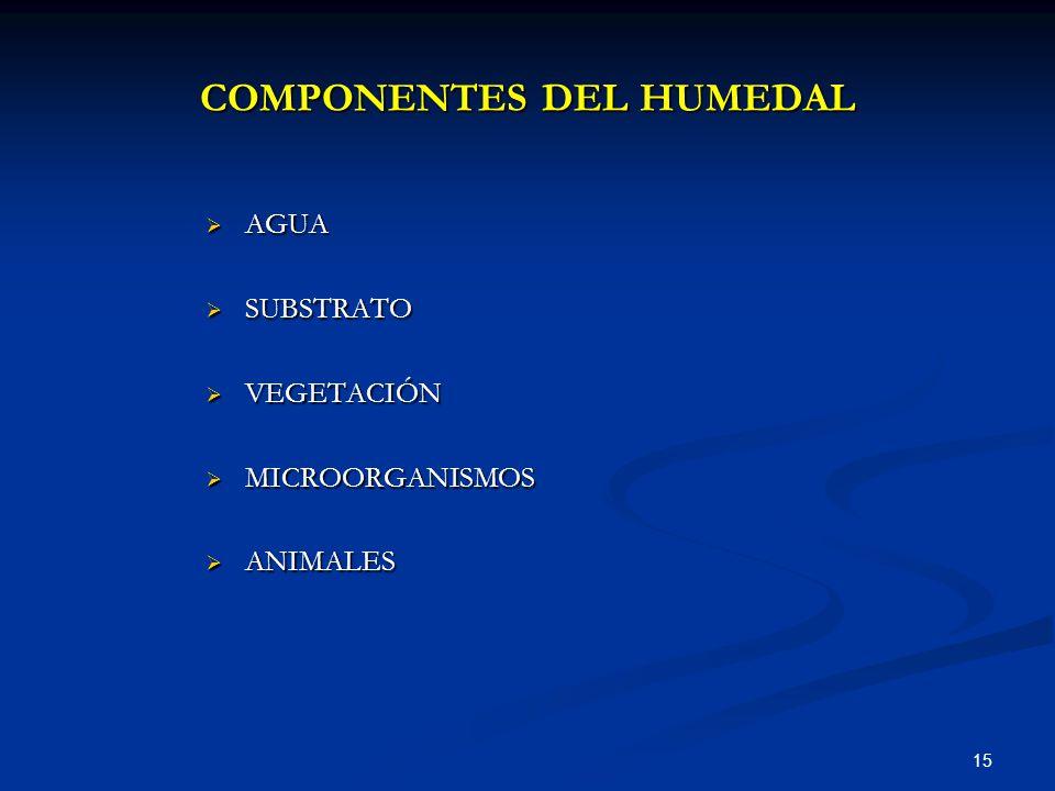 COMPONENTES DEL HUMEDAL