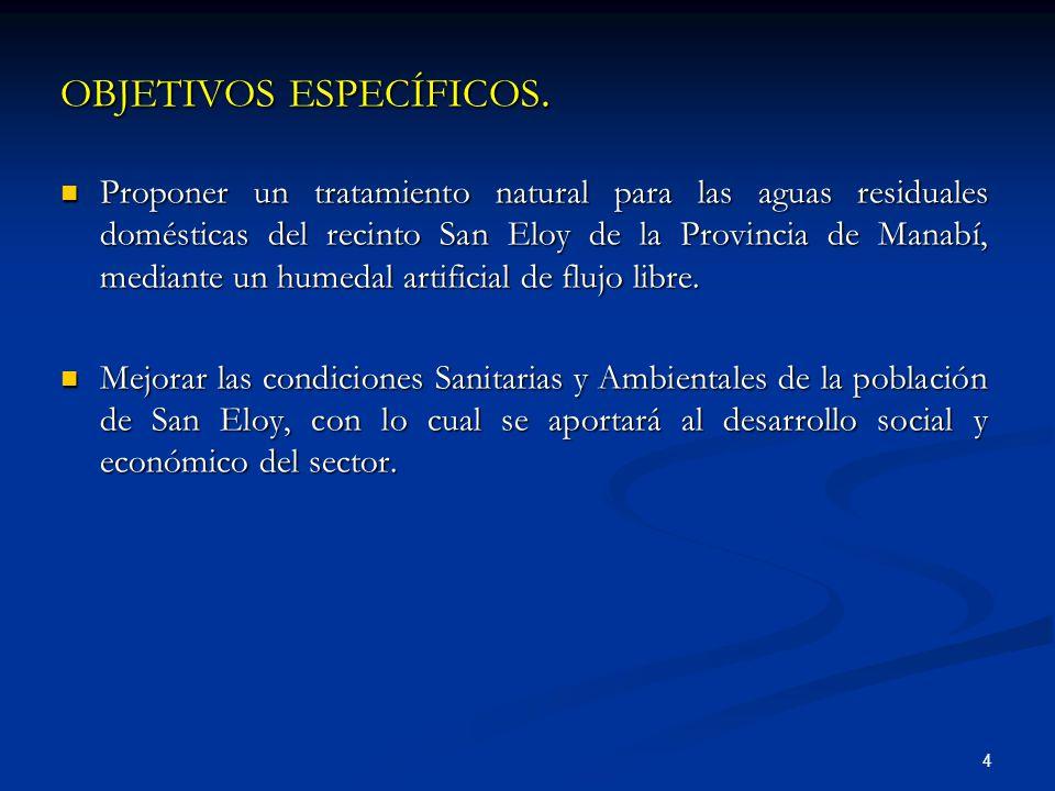 OBJETIVOS ESPECÍFICOS.