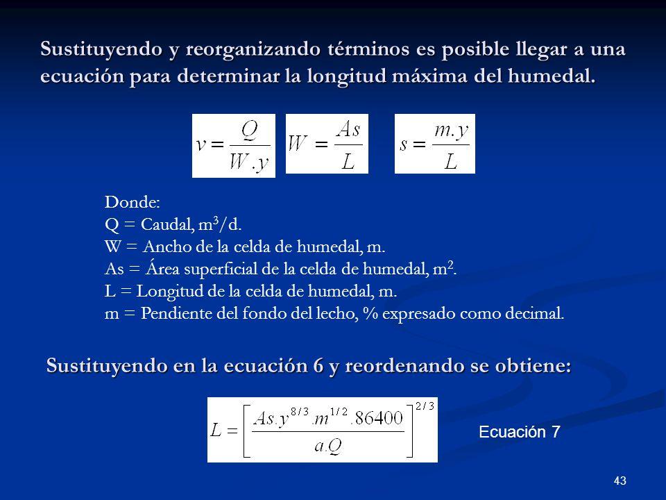 Sustituyendo en la ecuación 6 y reordenando se obtiene: