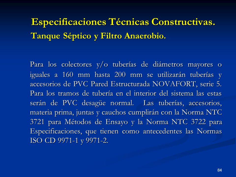 Especificaciones Técnicas Constructivas.