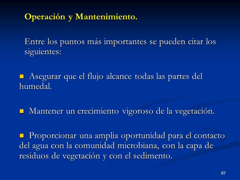 Operación y Mantenimiento.