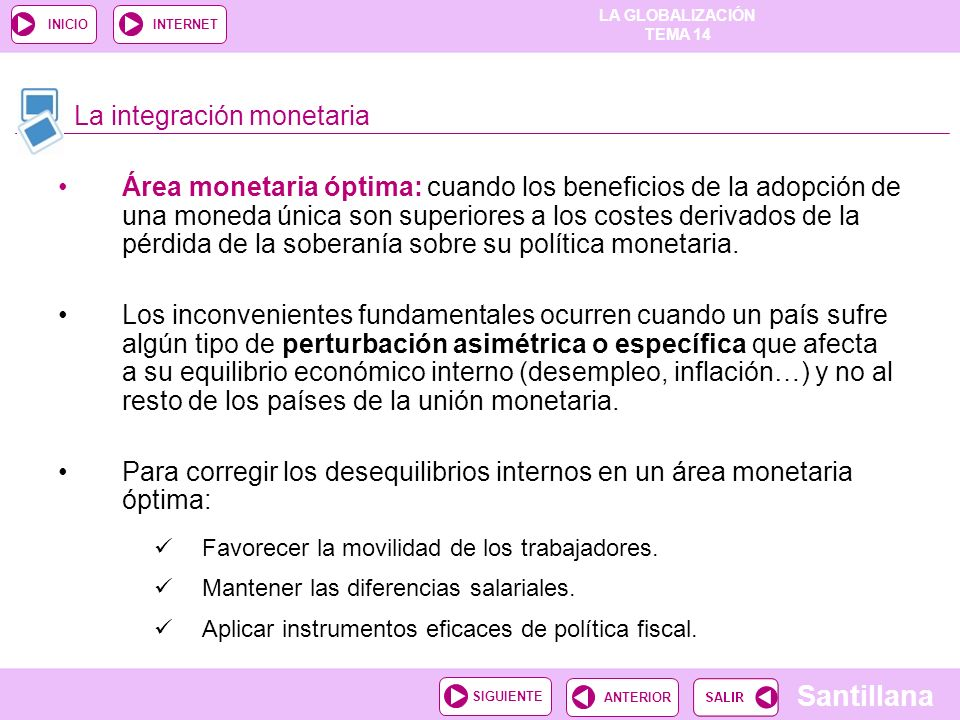 La integración monetaria