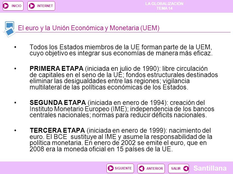 El euro y la Unión Económica y Monetaria (UEM)