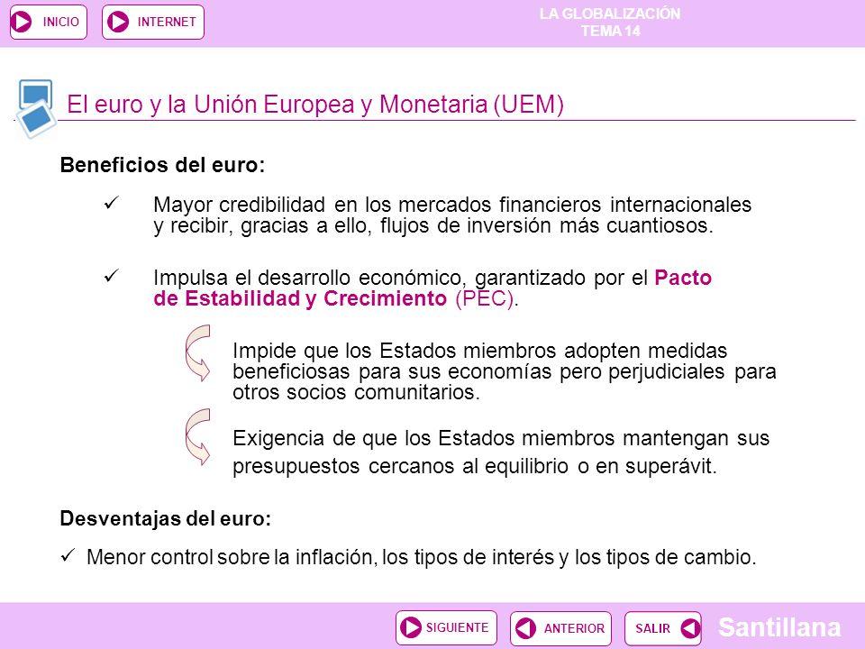 El euro y la Unión Europea y Monetaria (UEM)