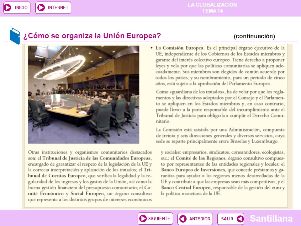 ¿Cómo se organiza la Unión Europea (continuación)