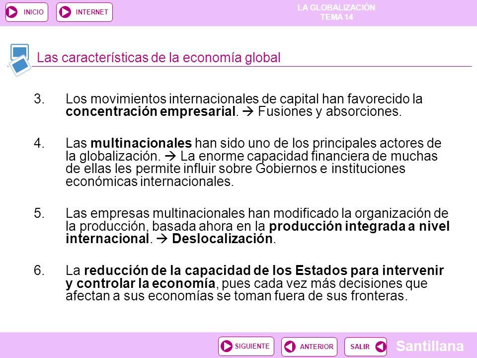 Las características de la economía global