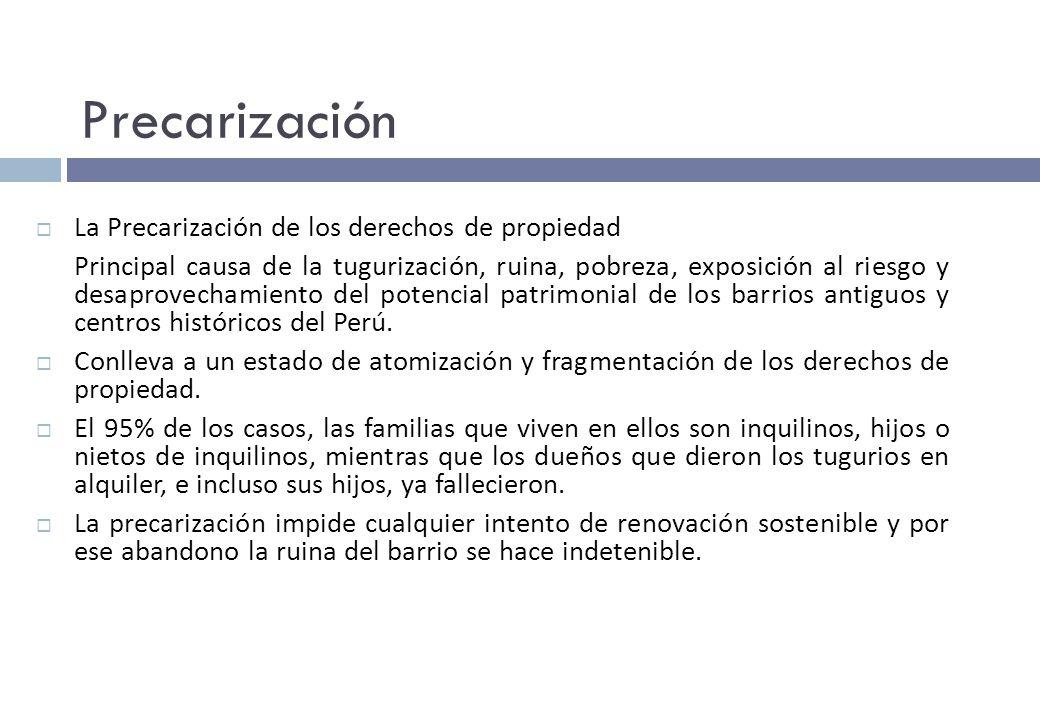 Precarización La Precarización de los derechos de propiedad