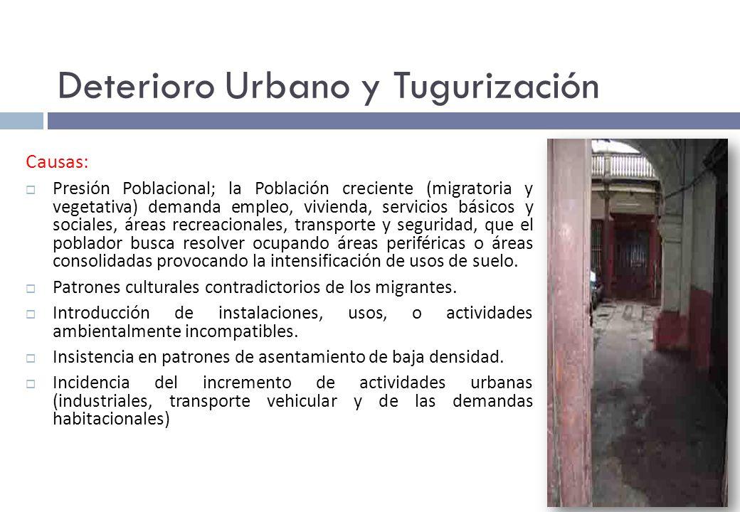 Deterioro Urbano y Tugurización