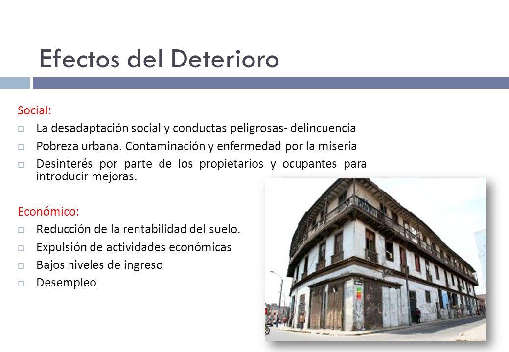 Efectos del Deterioro Social: