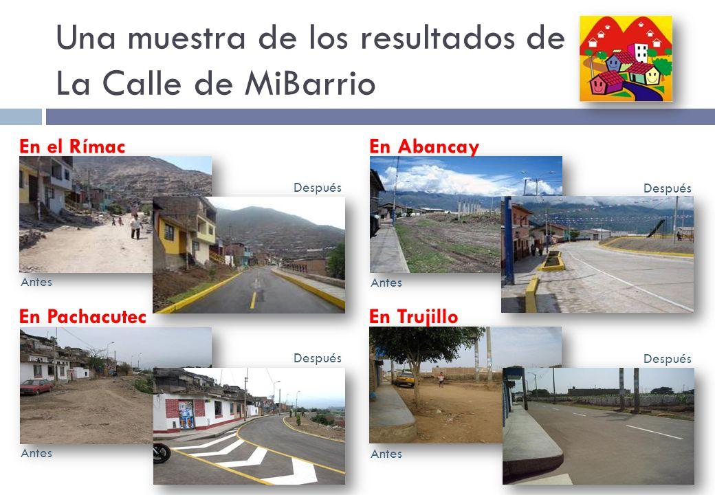 Una muestra de los resultados de La Calle de MiBarrio