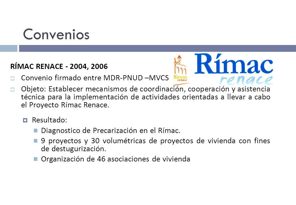 Convenios RÍMAC RENACE - 2004, 2006