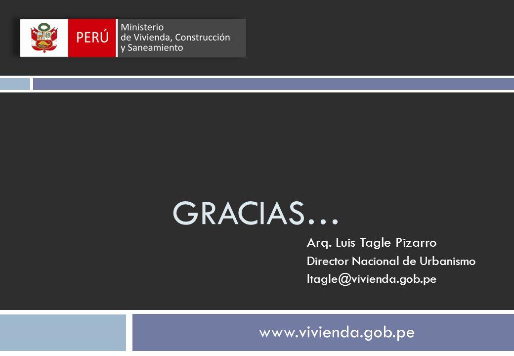 GRACIAS… www.vivienda.gob.pe Arq. Luis Tagle Pizarro