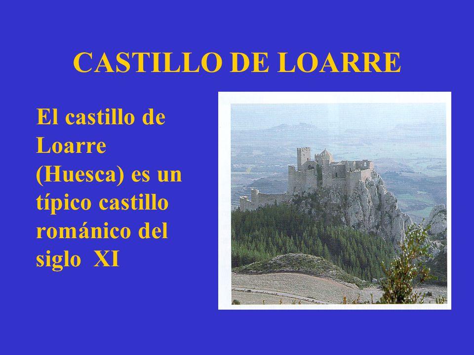 CASTILLO DE LOARRE El castillo de Loarre (Huesca) es un típico castillo románico del siglo XI