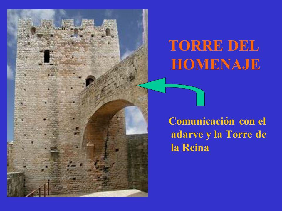 TORRE DEL HOMENAJE Comunicación con el adarve y la Torre de la Reina