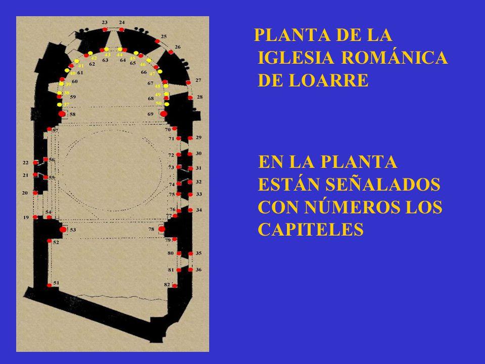 PLANTA DE LA IGLESIA ROMÁNICA DE LOARRE