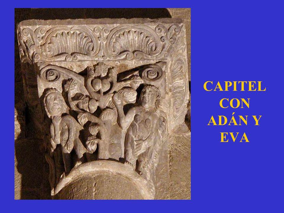 CAPITEL CON ADÁN Y EVA