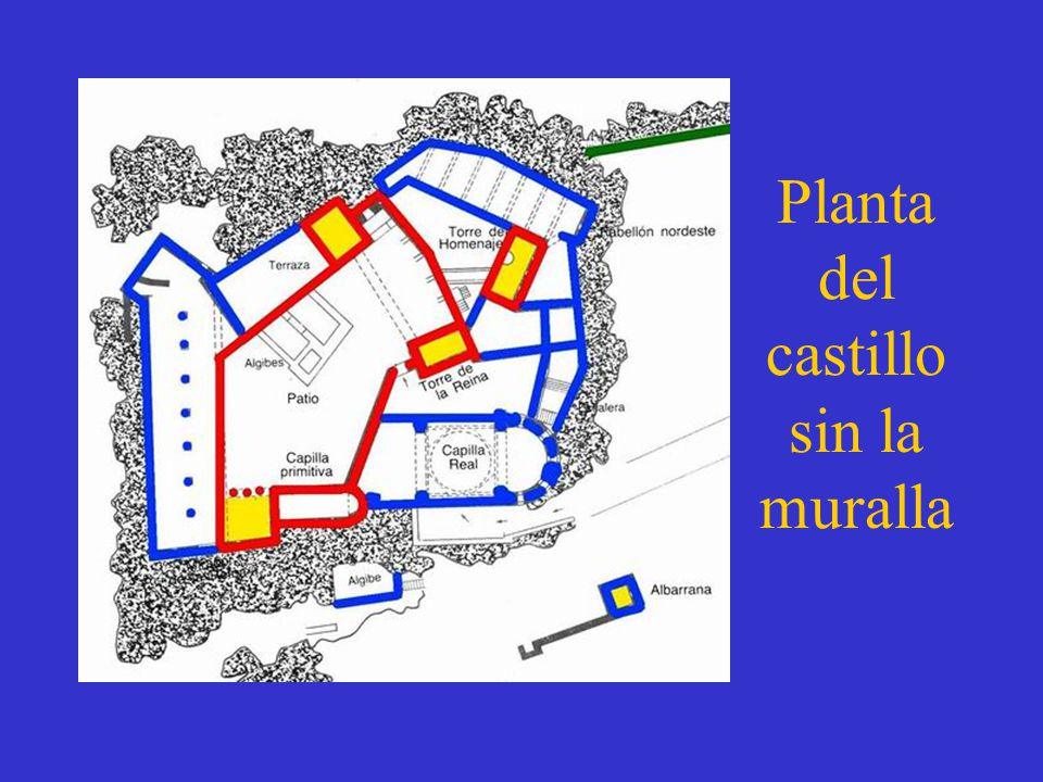 Planta del castillo sin la muralla