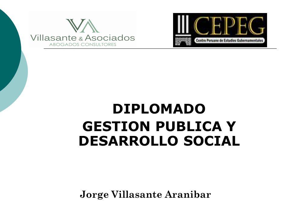 DIPLOMADO GESTION PUBLICA Y DESARROLLO SOCIAL