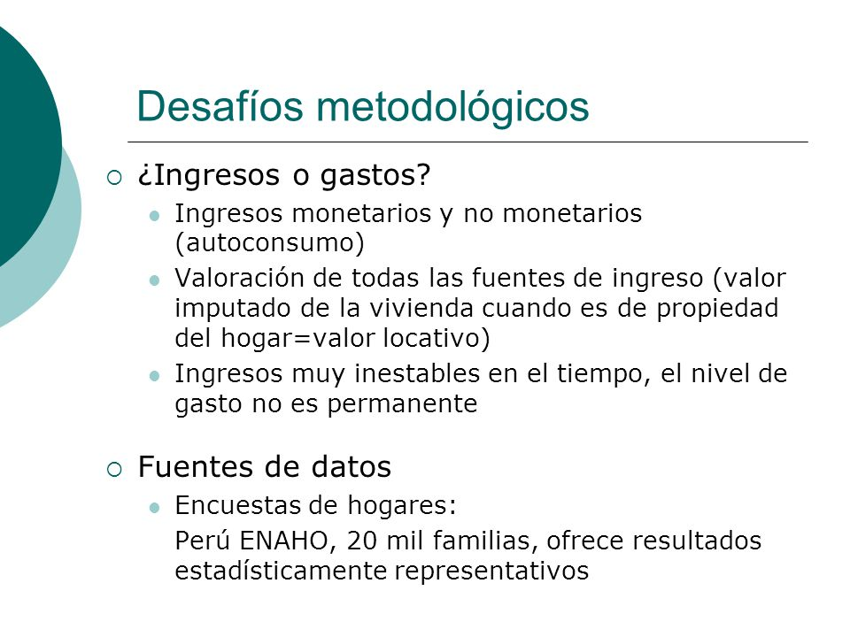 Desafíos metodológicos