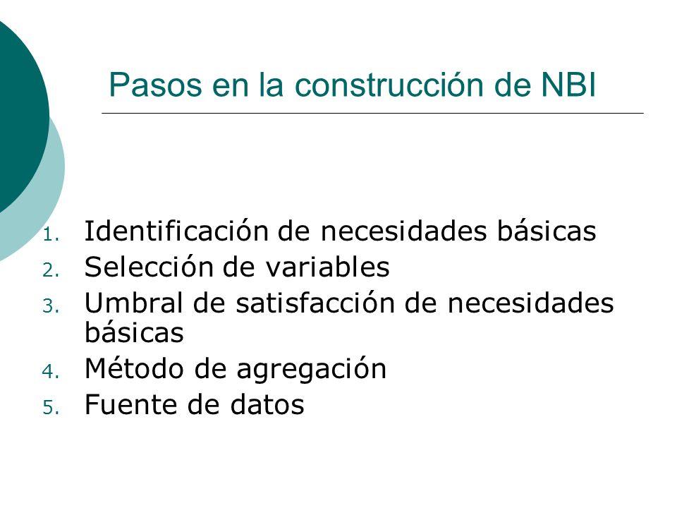 Pasos en la construcción de NBI