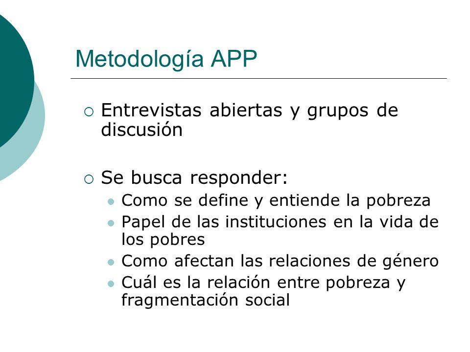 Metodología APP Entrevistas abiertas y grupos de discusión