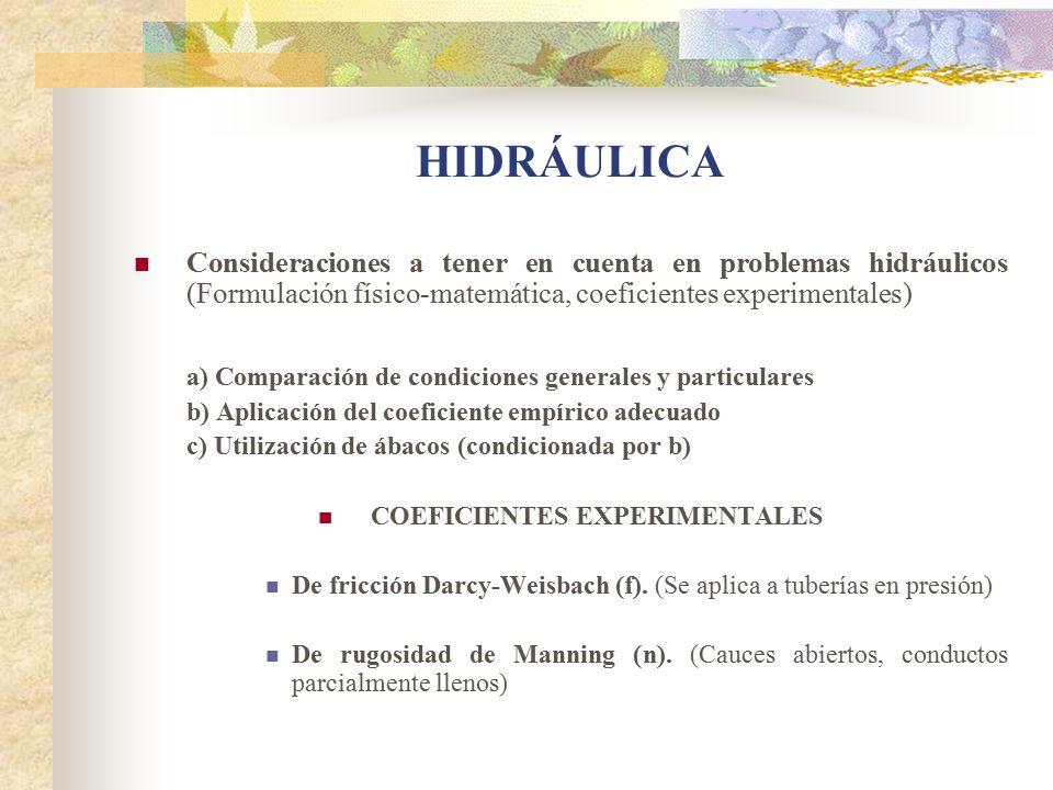 COEFICIENTES EXPERIMENTALES