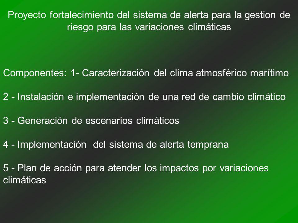 Proyecto fortalecimiento del sistema de alerta para la gestion de riesgo para las variaciones climáticas