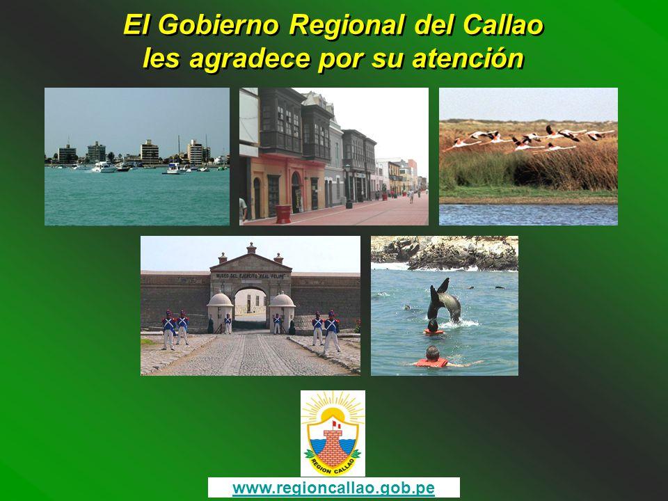 El Gobierno Regional del Callao les agradece por su atención