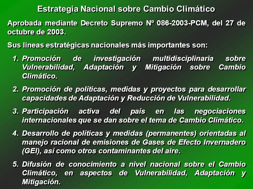 Estrategia Nacional sobre Cambio Climático