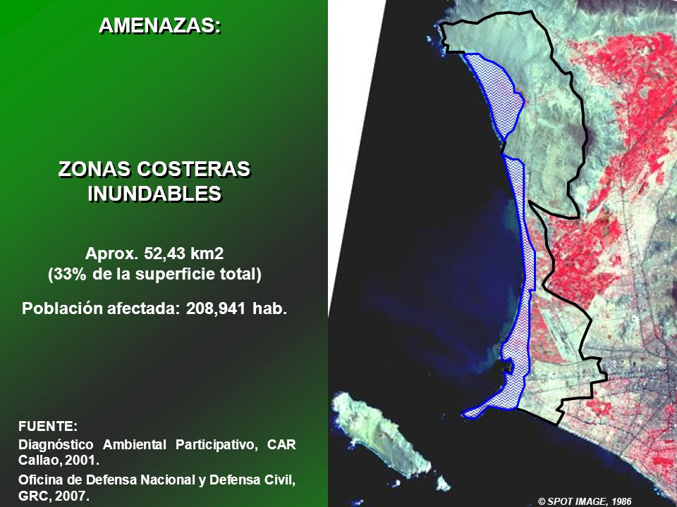 AMENAZAS: ZONAS COSTERAS INUNDABLES