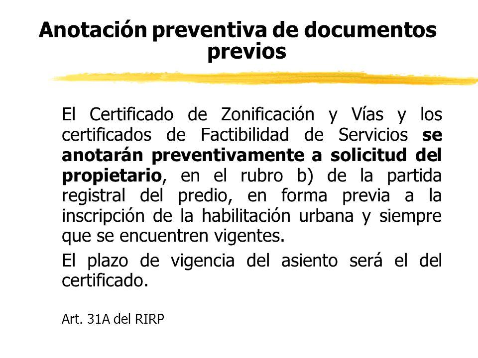 Anotación preventiva de documentos previos