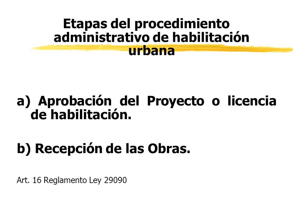 Etapas del procedimiento administrativo de habilitación urbana