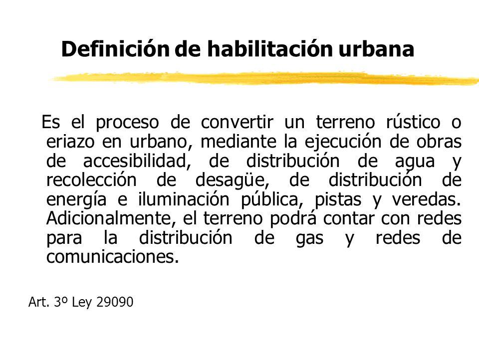 Definición de habilitación urbana